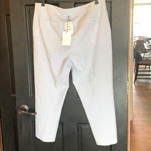 New 1901 Nordstrom seersucker Capri pants size 14